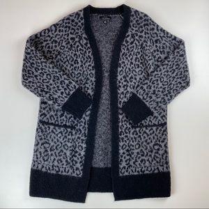 Lucky Brand Wool Cheetah Cardigan Size Medium